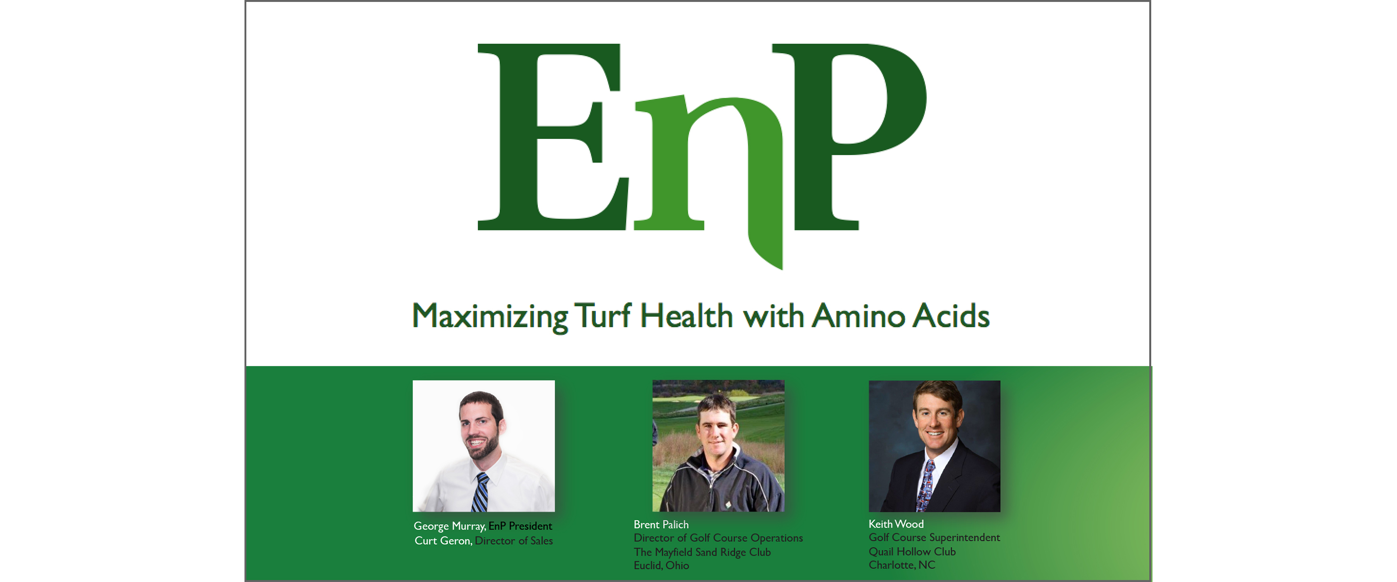 MAXIMIZING TURF HEALTH WITH AMINO ACIDS