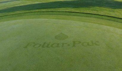 foliar-pak logo on golf course