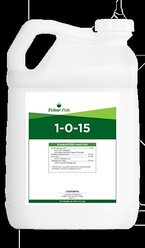 foliar-pak 1-0-15 product
