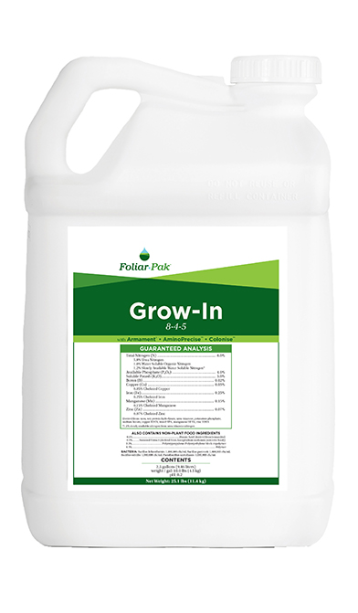 foliar-pak grow-in product