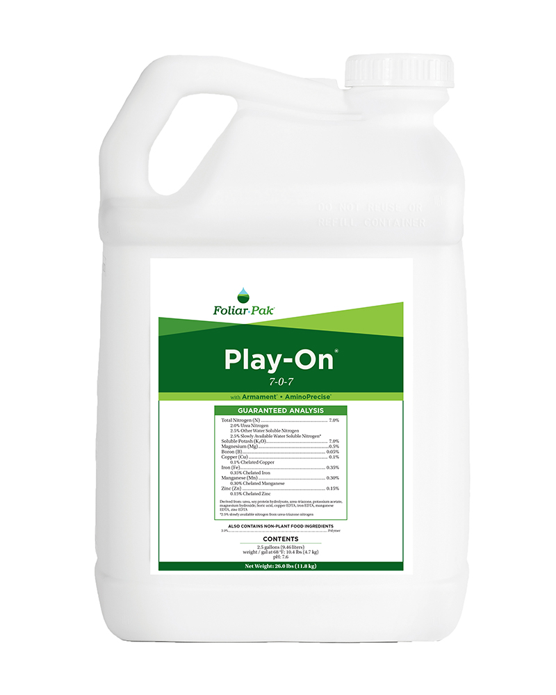 foliar-pak play-on product