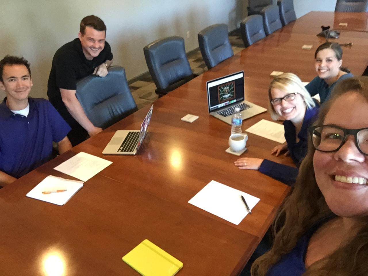 Xylem Marketing Team with foliar-pak intern