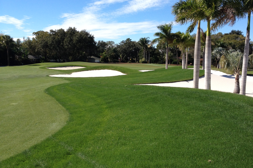 overseed winter maintenance program on golf course