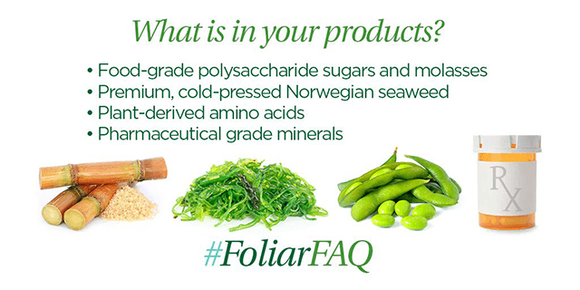 foliar-pak product ingredients
