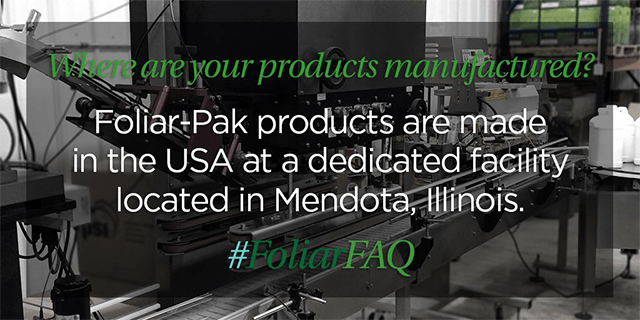 foliar-pak made in the usa