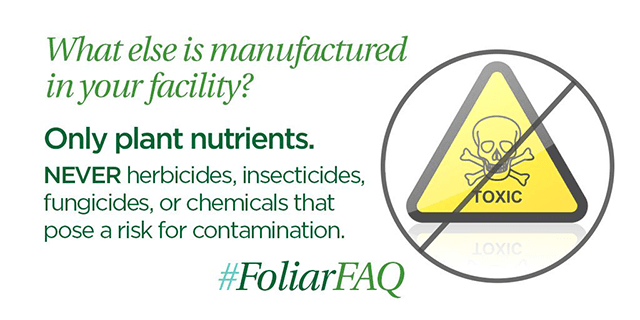 made in the foliar-pak facility