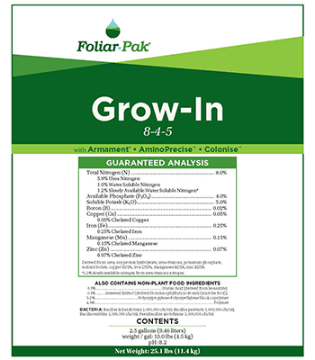 foliar-pak grow in product details