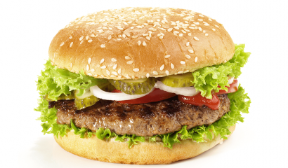 hamburger with toppings