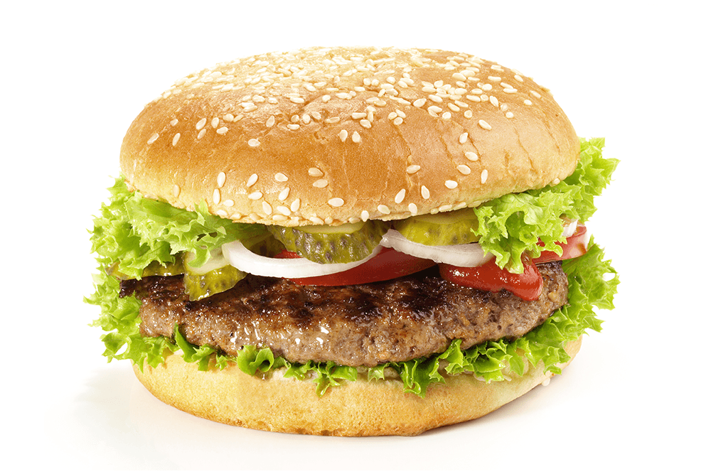 hamburger with toppings