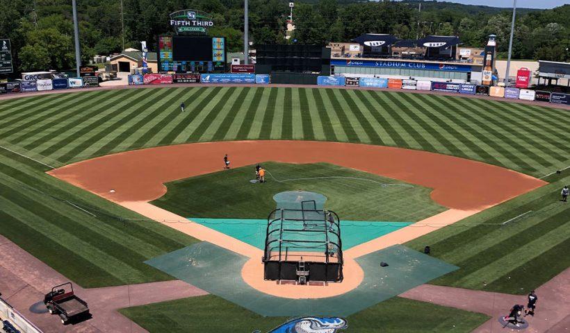 aerial view of west michigan whitecaps baseball field