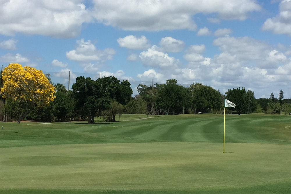 view of a hole at the cypress lake golf club