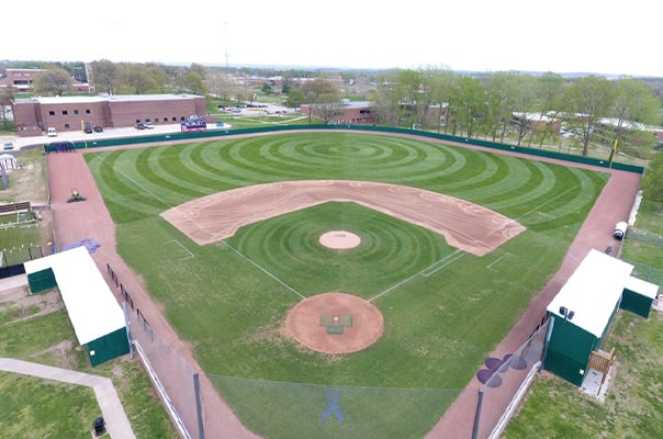 baseball field treated with foliar-pak products