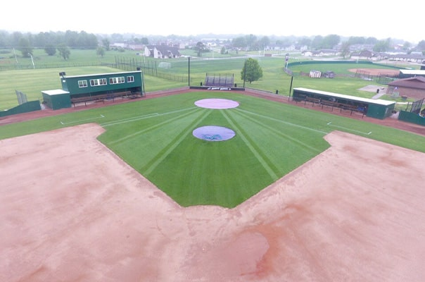 overhead view of casey martin's baseball field