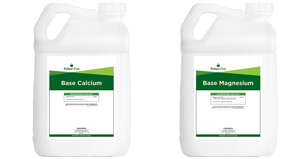 new foliar-pak products base calcium and base magnesium
