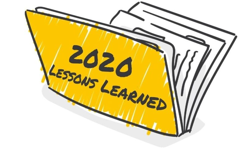 folder containing lessons learned in 2020